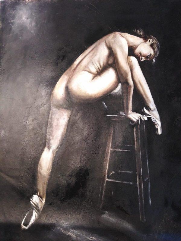 """Bailarina"" Técnicas óleo tela, medidas 60 x 40 cms. 600 €"