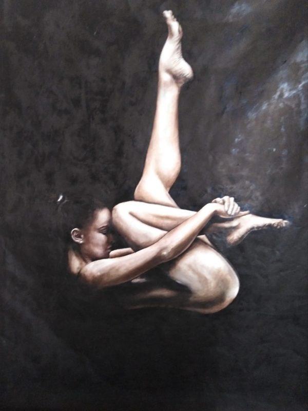 """A solas"" Técnicas óleo tela, medidas 150 x 100 cms. 1500€"